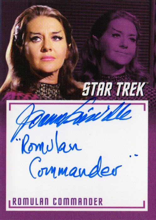 TOS Captain's Inscription Autograph A15 - Joanne Linville