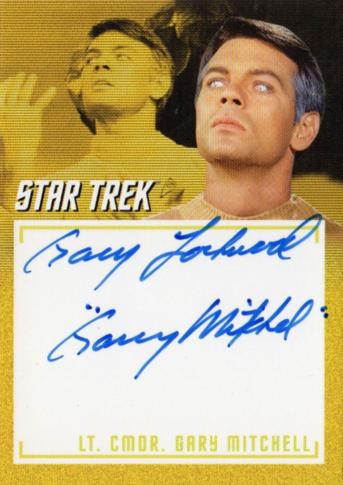 TOS Captain's Inscription Autograph A16 - Gary Lockwood
