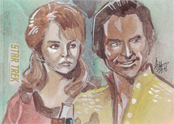 Irma Ahmed TOS Captain's Sketch - Marla McGivers and Khan