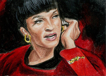 Jennifer Allyn TOS Captain's Sketch - Uhura