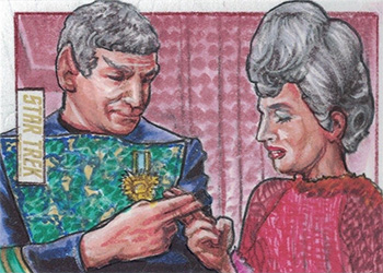 Adam & Bekah Cleveland TOS Captain's Sketch - Sarek and Amanda