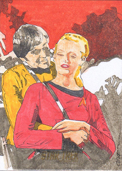 Roy Cover TOS Captain's Sketch - Chekov and Martha Landon