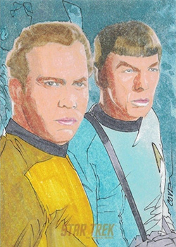 Roy Cover Sketch - Kirk and Spock