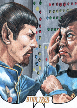 Bill Crabb Sketch - Mirror Spock and McCoy