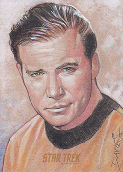 Jason Davies TOS Captain's Sketch - James T. Kirk