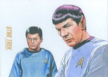 Louise Draper Sketch - McCoy and Spock