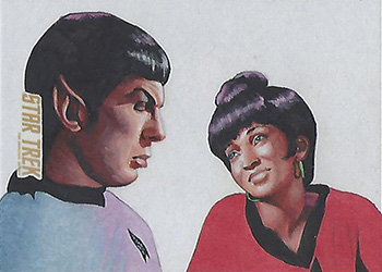Louise Draper Sketch - Spock and Uhura