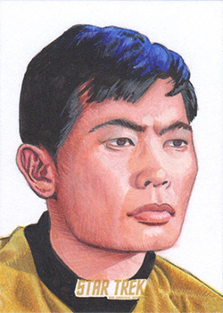 Louise Draper TOS Captain's Sketch - Sulu