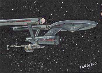 Norman Faustino TOS Captain's Sketch - Enterprise and Botany Bay