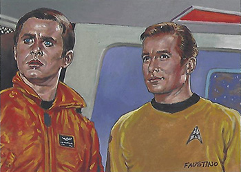 Norman Faustino Sketch - Kirk and Captain Christopher
