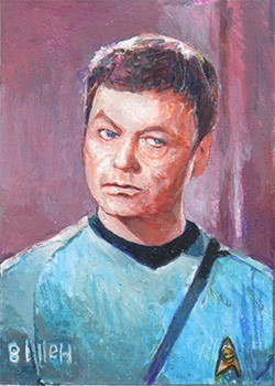 Charles Hall TOS Captain's Sketch - McCoy