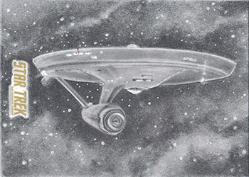Danny Hayman TOS Captain's Sketch - USS Enterprise