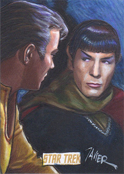 Javier Gonzalez TOS Captain's Sketch - Kirk and Spock