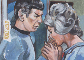 Lee Lightfoot Sketch - Spock and Chapel