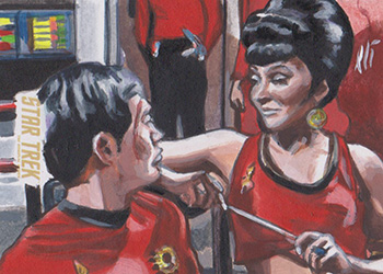Lee Lightfoot Sketch - Sulu and Uhura