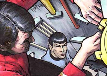 Warren Martineck Sketch - Scotty and Spock