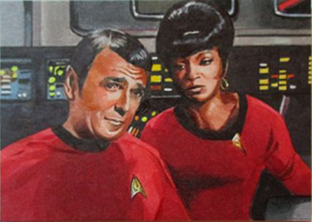 Chris Meeks Sketch - Scotty and Uhura