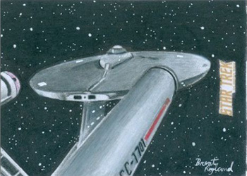 Brent Ragland TOS Captain's Sketch - USS Enterprise
