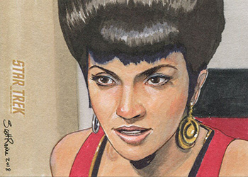 Scott Rorie TOS Captain's Sketch - Uhura
