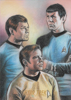 Huy Truong AR Sketch - Kirk, Spock and McCoy