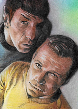 Huy Truong Sketch - Kirk and Spock #2