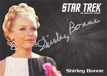 TOS Captain's Silver Series Autograph - Shirley Bonne