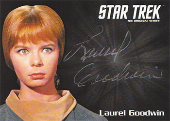 TOS Captain's Silver Series Autograph - Laurel Goodwin