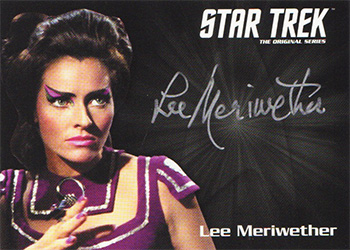 TOS Captain's Silver Series Autograph - Lee Meriwether