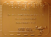 Gold Card G73 - The Lights of Zetar