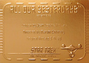 Gold Card G78 - All Our Yesterdays