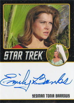 Black Border Autograph - Emily Banks