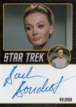 Black Border Autograph - Barbara Bouchet