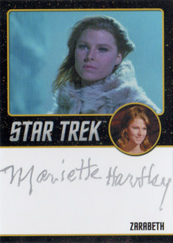 Black Border Autograph - Mariette Hartley