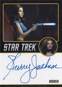 Black Border Autograph - Sherry Jackson