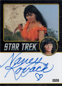 Black Border Autograph - Nancy Kovack