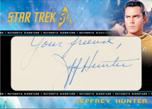 Cut Signature Card - Jeffrey Hunter