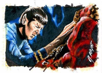 Jennifer Allyn Sketch - Spock and Horta