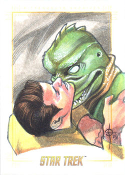 León Braojos Sketch - Kirk and Gorn