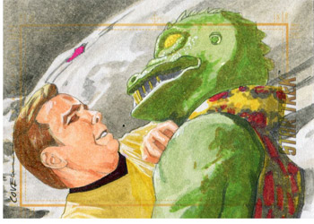 Roy Cover Sketch - Kirk and Gorn