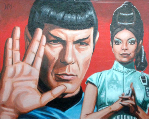 David Day AR Sketch - Spock and T'Pring