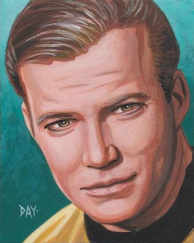 David Day AR Sketch - Captain James T. Kirk