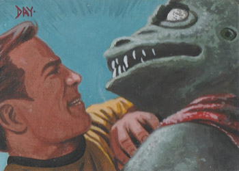 David Day Sketch - Kirk and Gorn