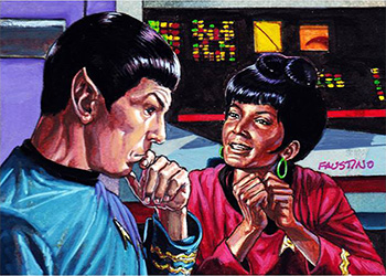 Norman Jim Faustino AR Sketch - Spock and Uhura