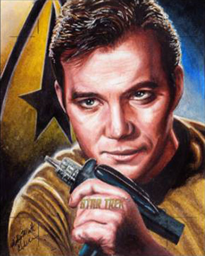 Mick and Matt Glebe AR Sketch - Captain James T. Kirk