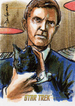 Daniel Gorman Sketch - Gary Seven and Isis as a Cat
