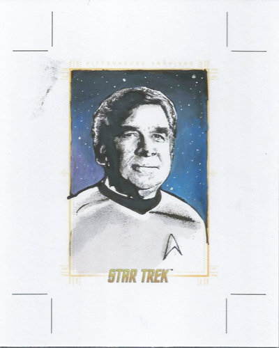 Kevin Graham AR Sketch - Gene Roddenberry