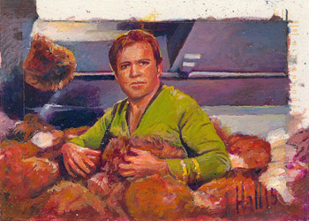 Charles Hall AR Sketch - Kirk and Tribbles