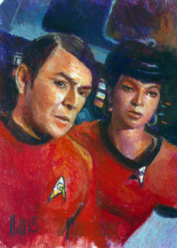 Charles Hall Sketch - Scotty and Uhura