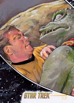 Michael James Sketch - Gorn and Kirk