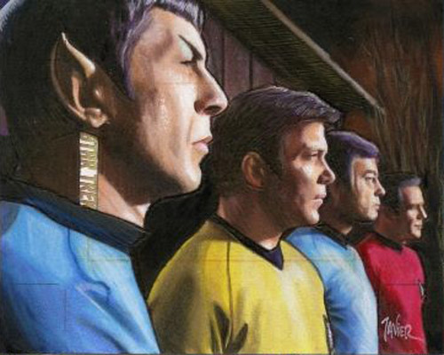 Javier Gonzalez AR Sketch - Spock, Kirk, McCoy and Scotty